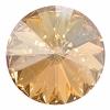 Swarovski Stones 1122 Rivoli 18mm Goldenshadow Crystal 72pcs